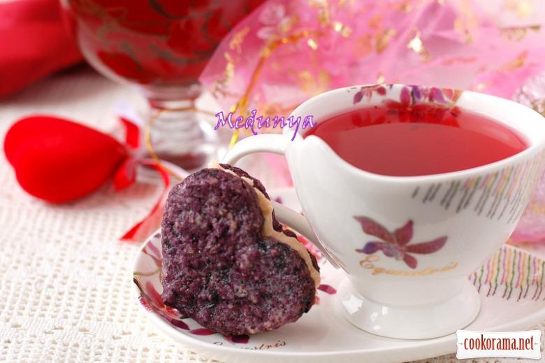 Печиво «Чорнично-горіхові сердечка »