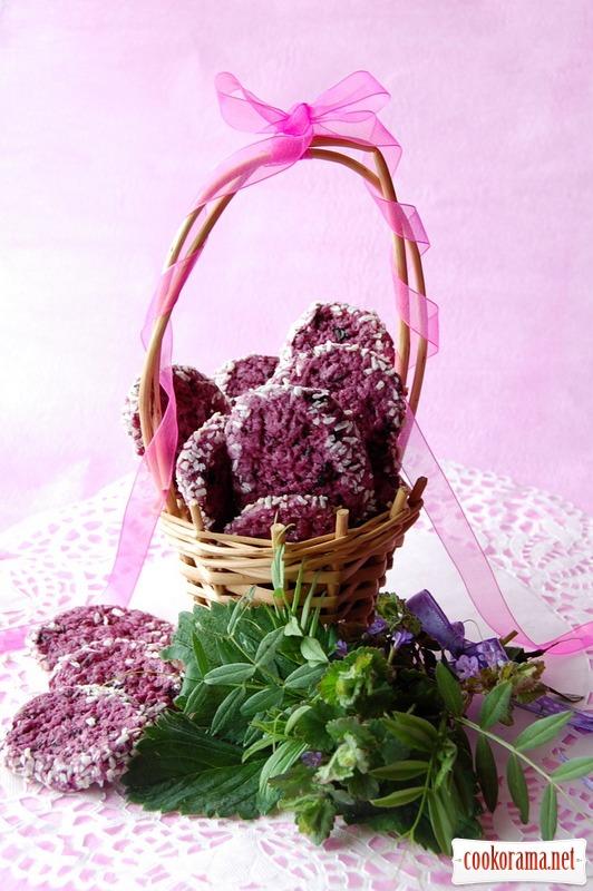 Фиолетовое смородиновое печенье