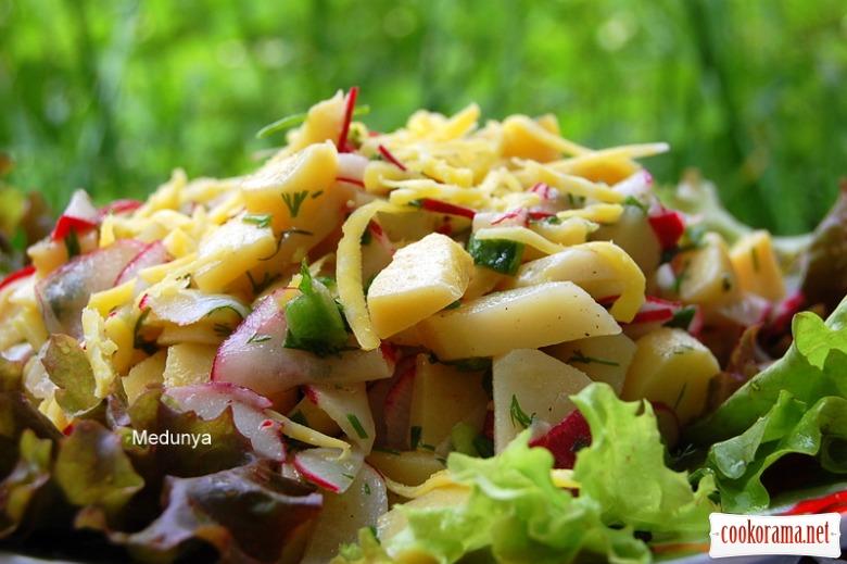Картопляний салат з редискою