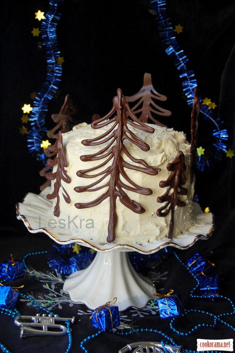 """Торт """"Ніч перед Різдвом"""" або """"Гори, свічечко, гори"""""""