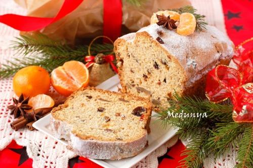 Quarkstollen - немецкий рождественский кекс с творогом