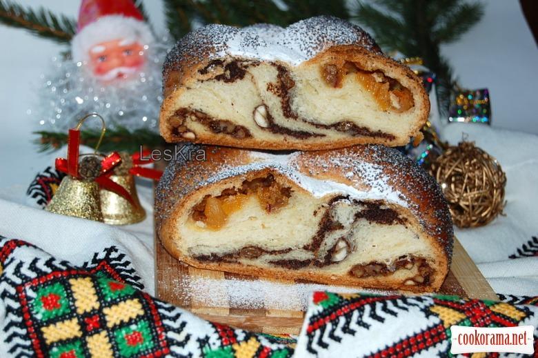 Різдвяна плетінка з трьома начинками
