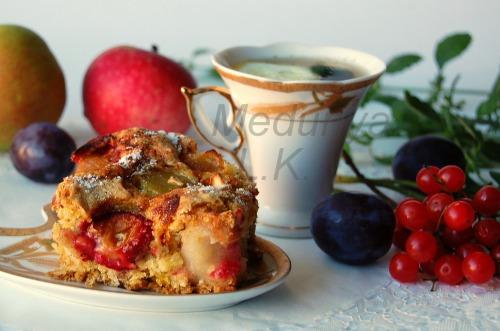"""Пиріг """"Яблука в перині -3"""" (без жиру)"""