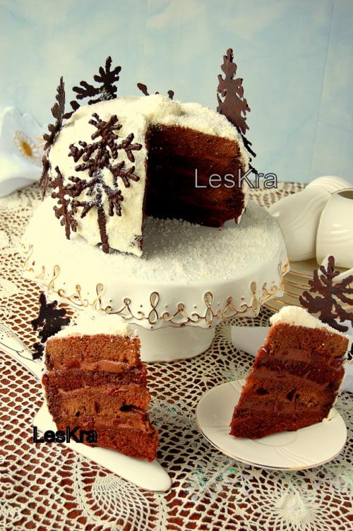 """Торт """"Вишня в пьяном шоколаде"""""""