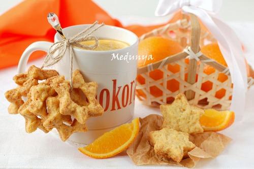 """Cookies """"Orange stars"""""""