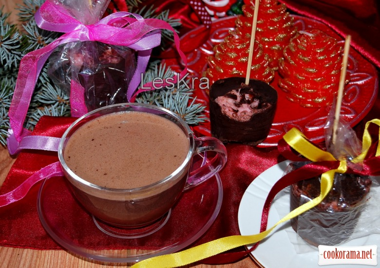 Горячий шоколад на палочке