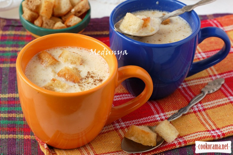 Onion and cheese soup