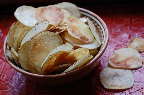 Potato chips + bonus - apple chips