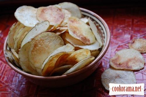 Картофельные чипсы + бонус - яблочные чипсы