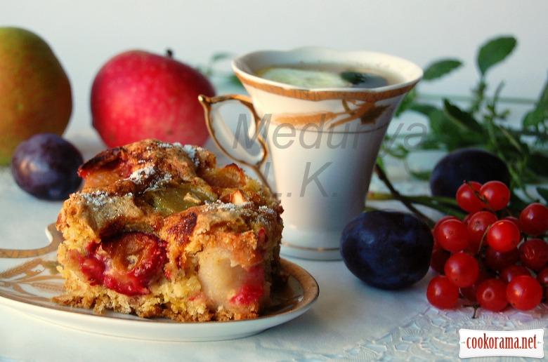 "Пирог ""Яблоки в перине -3"" (без жира)"