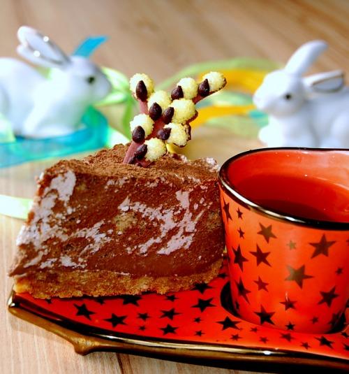 """Мраморный"" торт без выпечки"