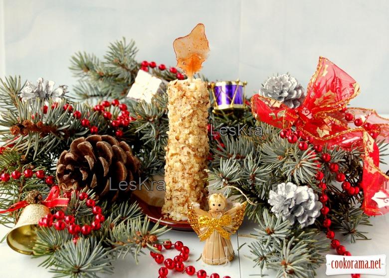 """Тістечко """"Різдвяна свічка"""""""