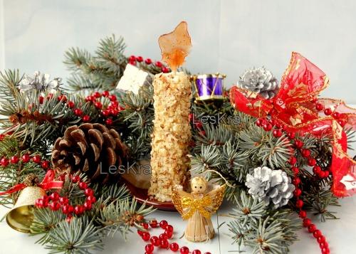 """Пирожное """"Рождественская свеча"""""""