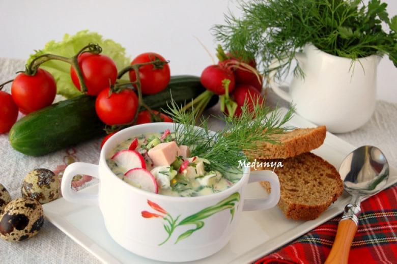 Okroshka with kefir
