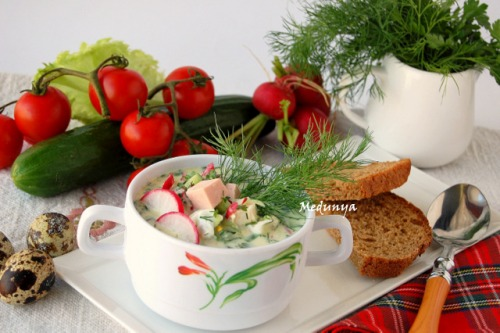 Okroshka with kefir