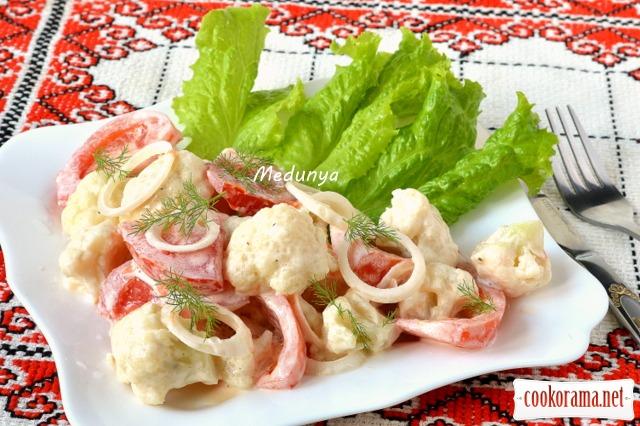Салат з цвітною капустою