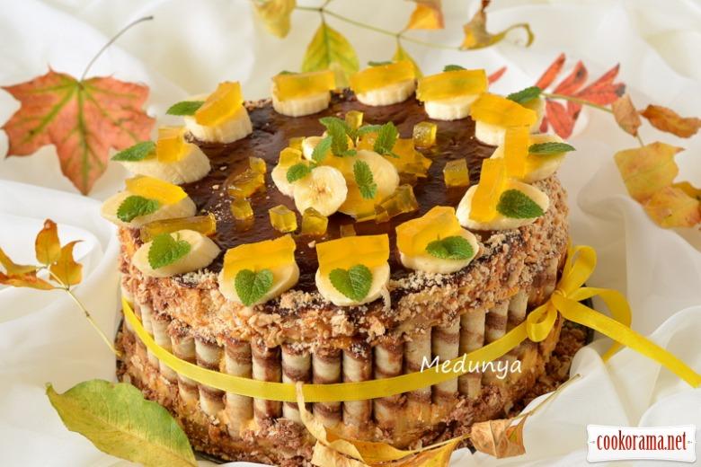 Бананово-гарбузовий торт« Ніжний доторк осені»