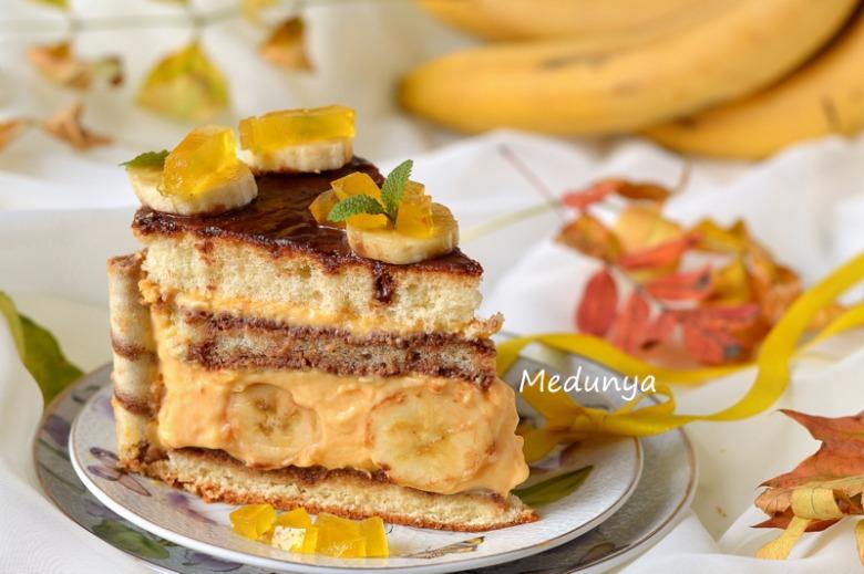 """Бананово-гарбузовий торт"""" Ніжний доторк осені"""""""