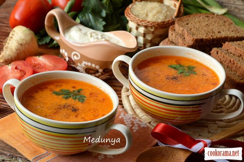 рецепт помідорової зупи