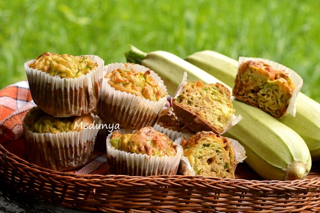 Courgettes muffins