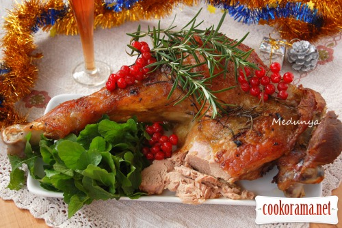 Turkey meat in onion marinade