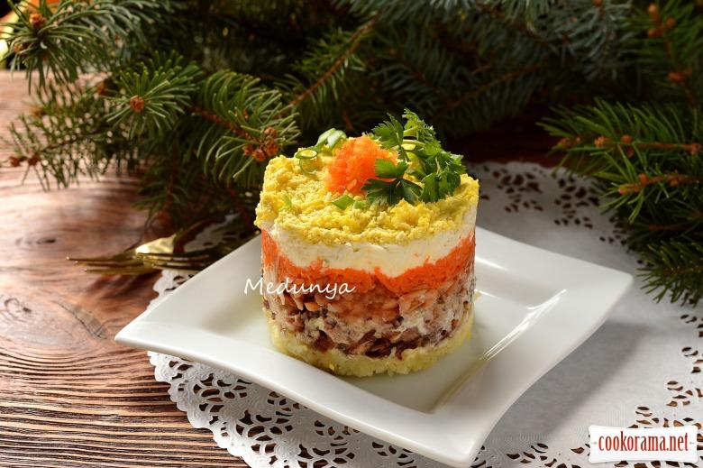 Салат с сардины