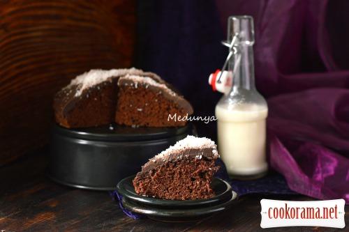 Пісний кавово-шоколадний кекс
