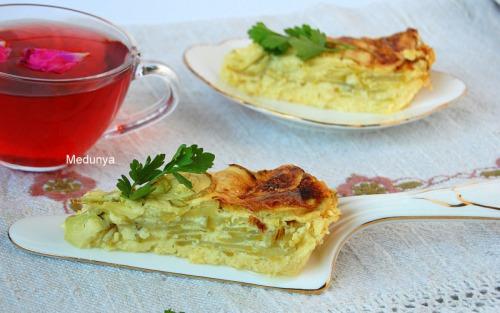 Запеканка из молодых кабачков и плавленого сыра
