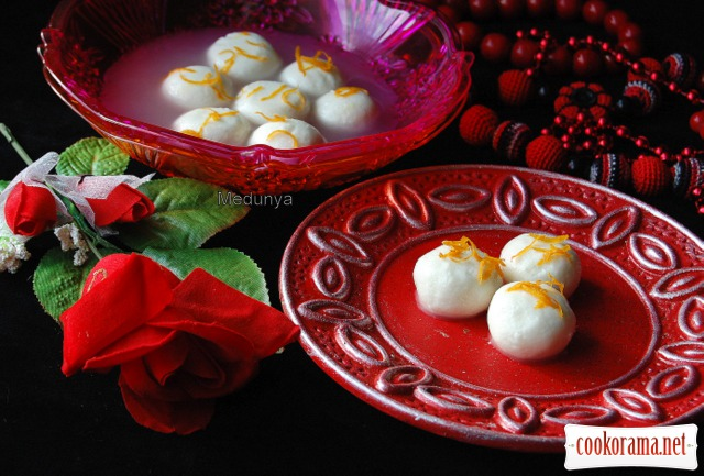 Расгулла - индийские сладости
