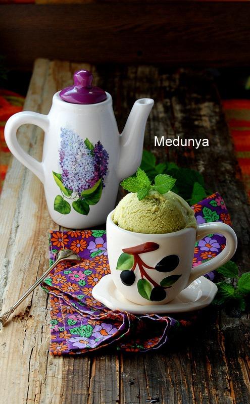 Мятное мороженое
