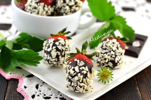 Полуниця в шоколадній шубці