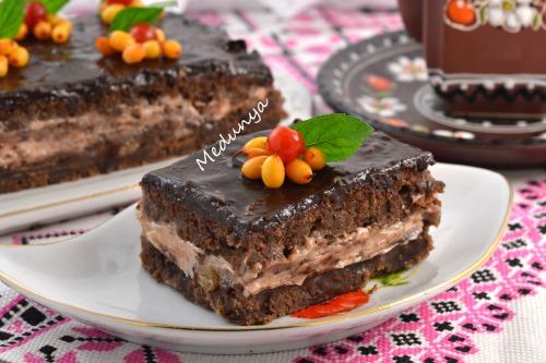 """Пирог """"Шоколадный глинтвейн"""""""