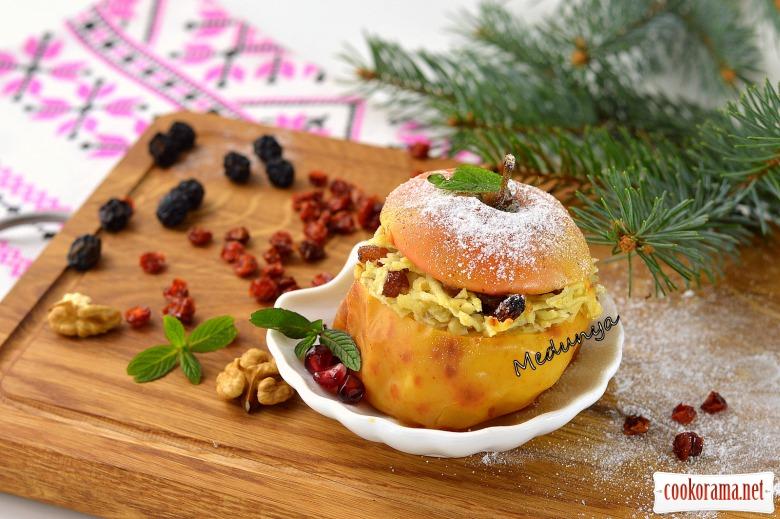 Подвійнозапечені яблука в духовці