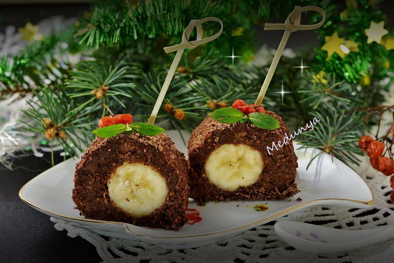 Шоколадно-банановий десерт