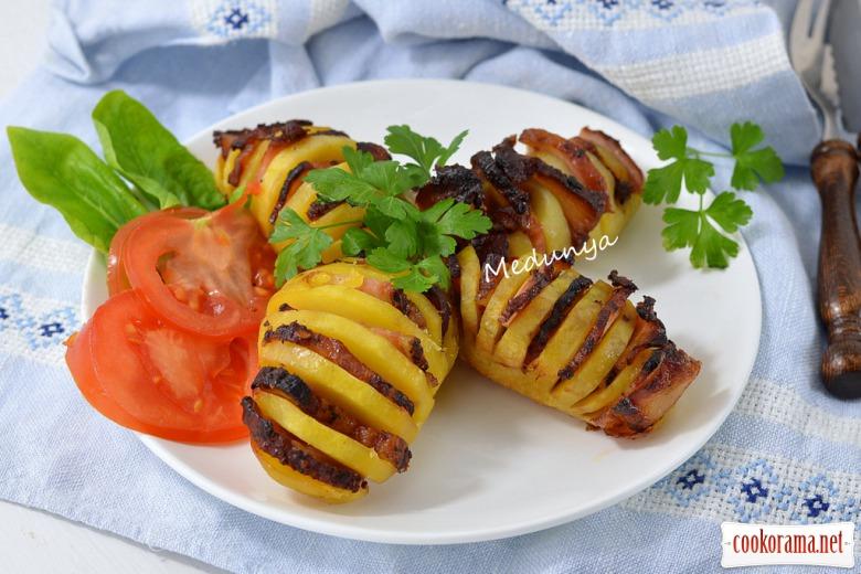 Картофель-гармошка в духовке