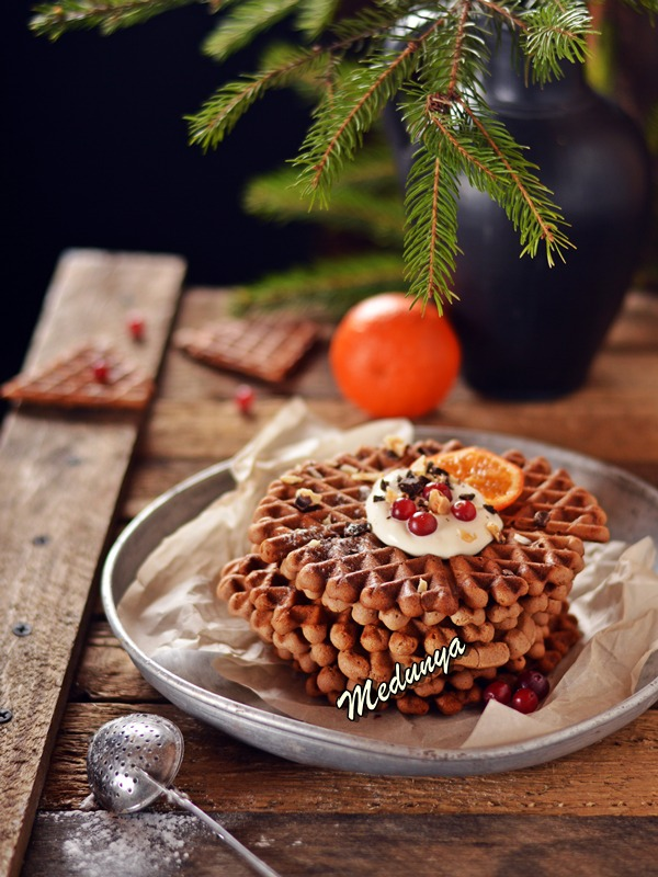 Шоколадні андрути(вафлі) з лісовими горіхами