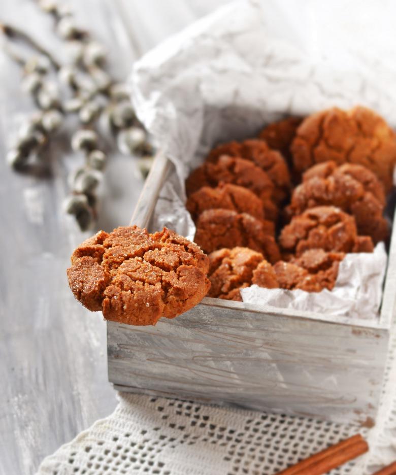 Медово-коричне потріскане печиво