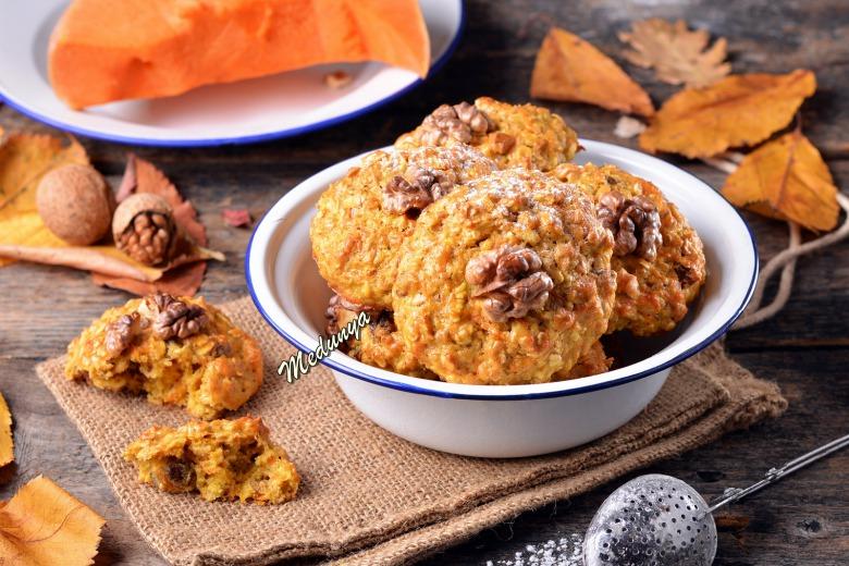 Вівсяне печиво з гарбузом