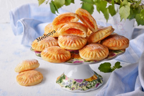 Сирне печиво з курагою