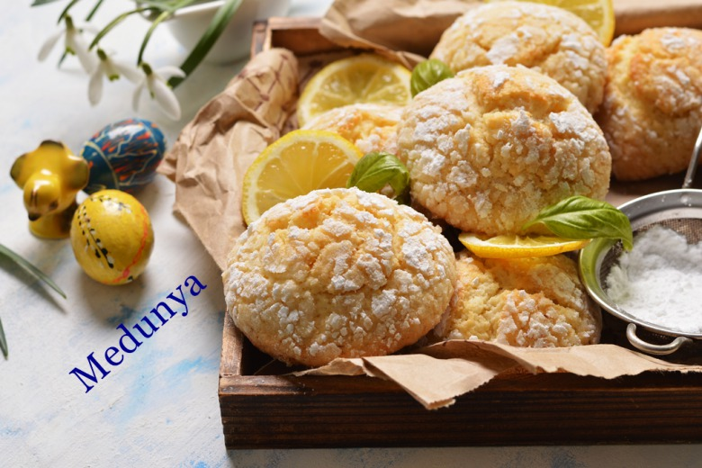 Лимонне печиво з тріщинками