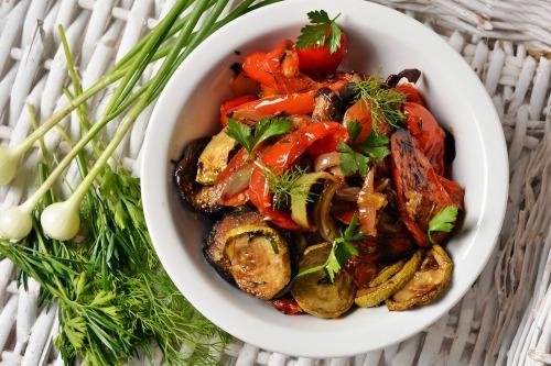 овочі гриль в духовці