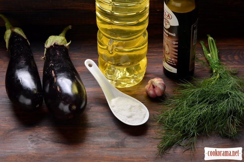 Рецепт баклажанів з часником