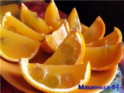 Апельсинове желе в апельсинах