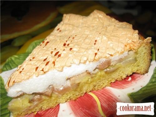 Пісочний пиріг з грушею і бізе «Ранкова роса»