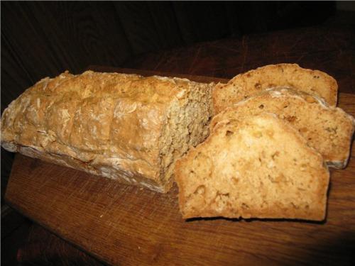 Хлеб на кефире, без дрожжей
