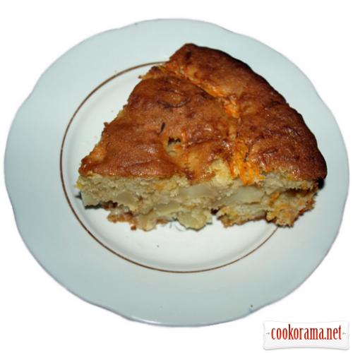 Яблочно-морковный пирог
