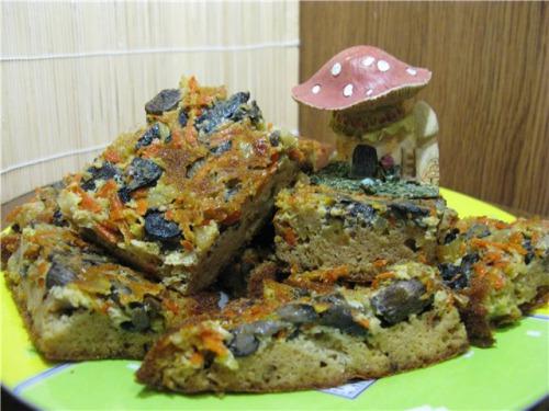 Не солодкий пиріг для ледащих : ) з грибами
