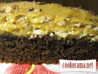 Торт-манник с крекером и заварным кремом