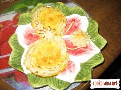 Картофельные фигуры с яйцом