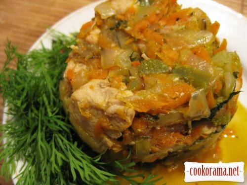 Курица с овощами «Яблочные нотки»